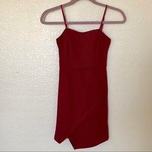 Preloved asymmetrical red dress Sz S